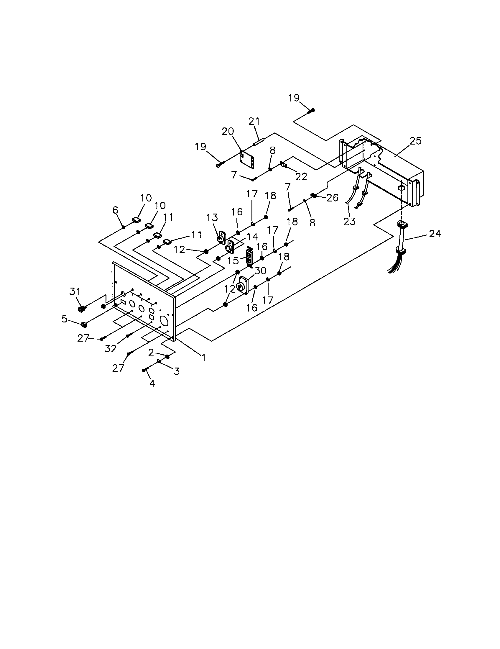 CONTROL PANEL Diagram & Parts List for Model 580327181