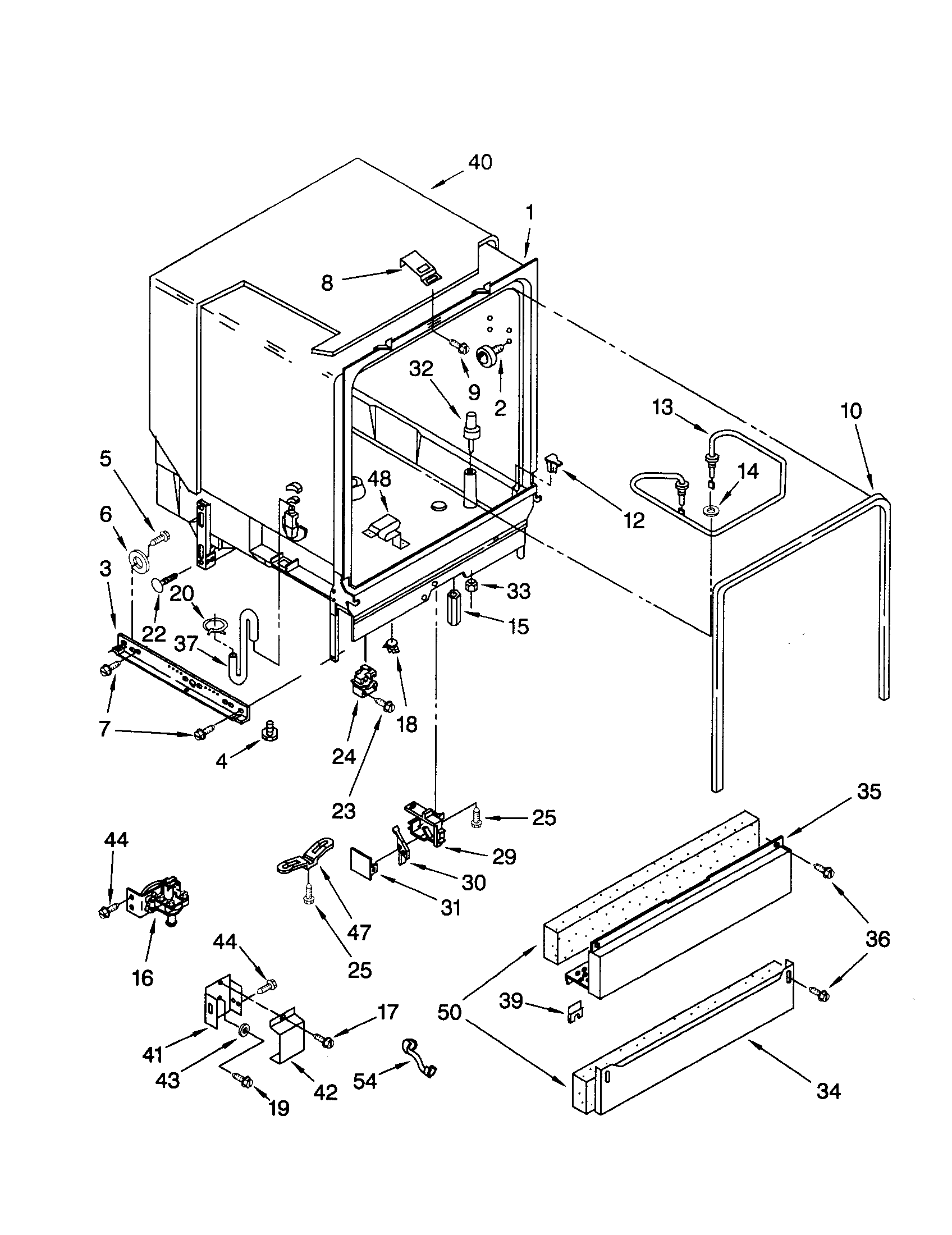 TUB ASSEMBLY Diagram & Parts List for Model 66515701891