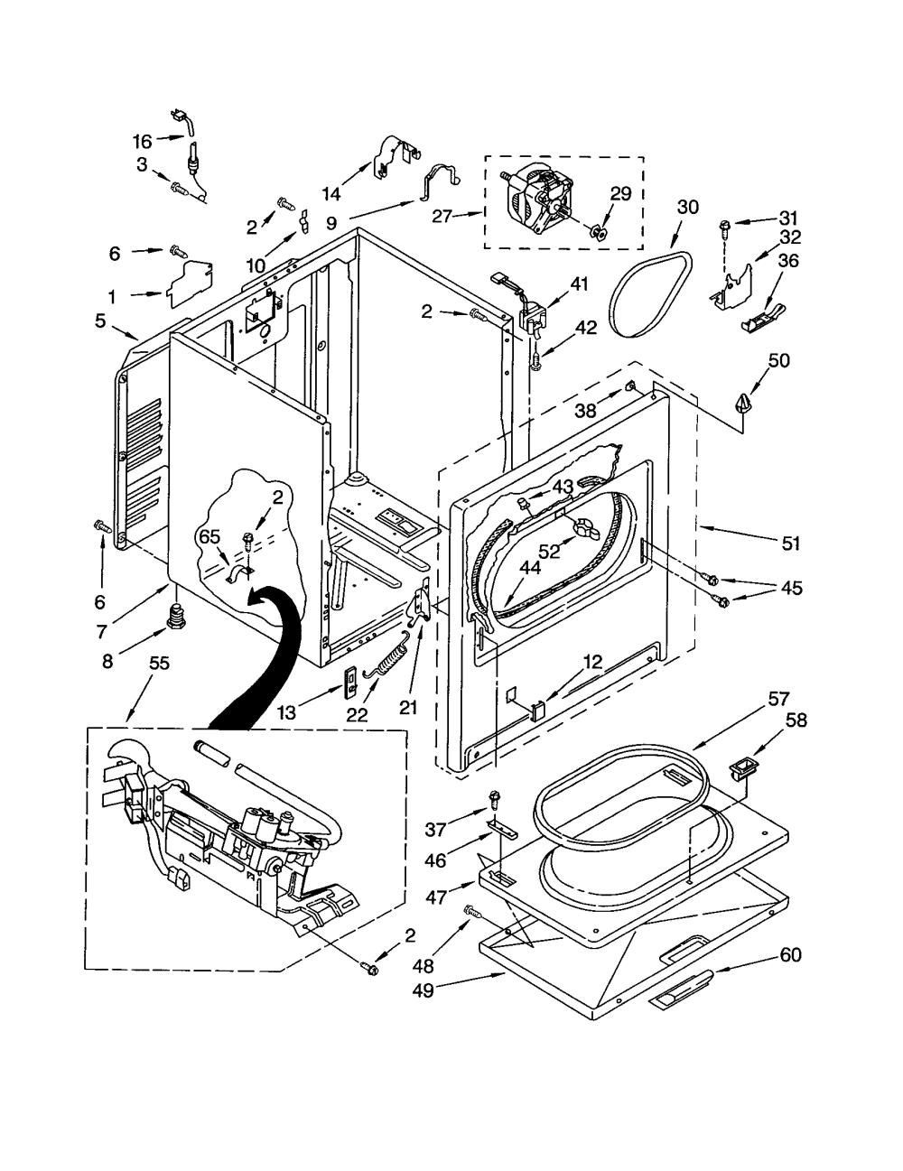 medium resolution of kenmore model 11072812101 residential dryer genuine parts lg dryer wiring diagram sears kenmore dryer wiring diagram