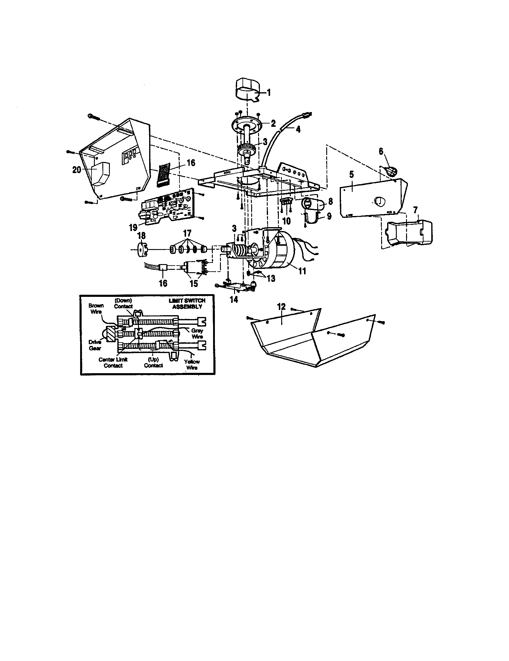Garage Door Parts: Craftsman Garage Door Parts Diagram