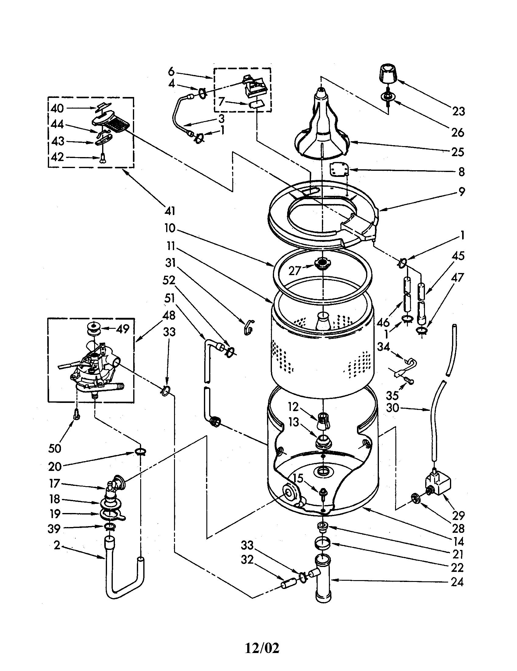 Kenmore Washer Transmission Schematics Electrolux Washer