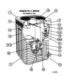 lennox model hp29 048 1p air conditioner heat pump outside unit rh searspartsdirect com ac unit parts diagram ac unit schematics [ 1696 x 2200 Pixel ]
