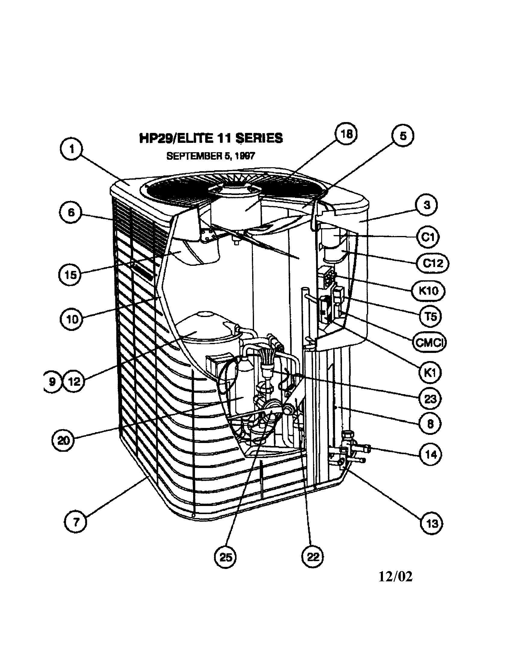 hight resolution of lennox model hp29 048 1p air conditioner heat pump outside unit rh searspartsdirect com ac unit parts diagram ac unit schematics