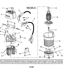 craftsman 315175100 top cap motor housing cord diagram [ 2227 x 1732 Pixel ]