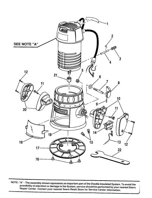 small resolution of craftsman 315175100 base handle subbase diagram