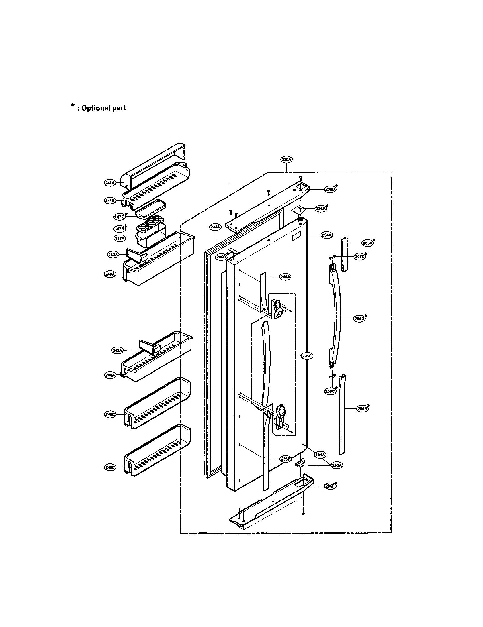 Refrigerator Parts: Lg Refrigerator Parts Diagram