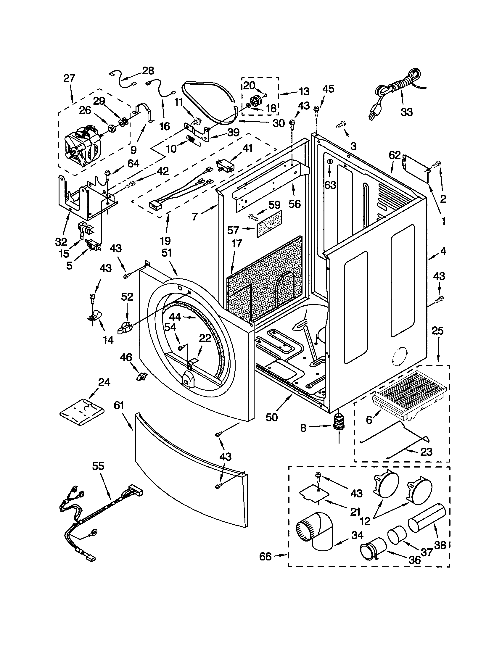 CABINET Diagram & Parts List for Model 11092822102 Kenmore