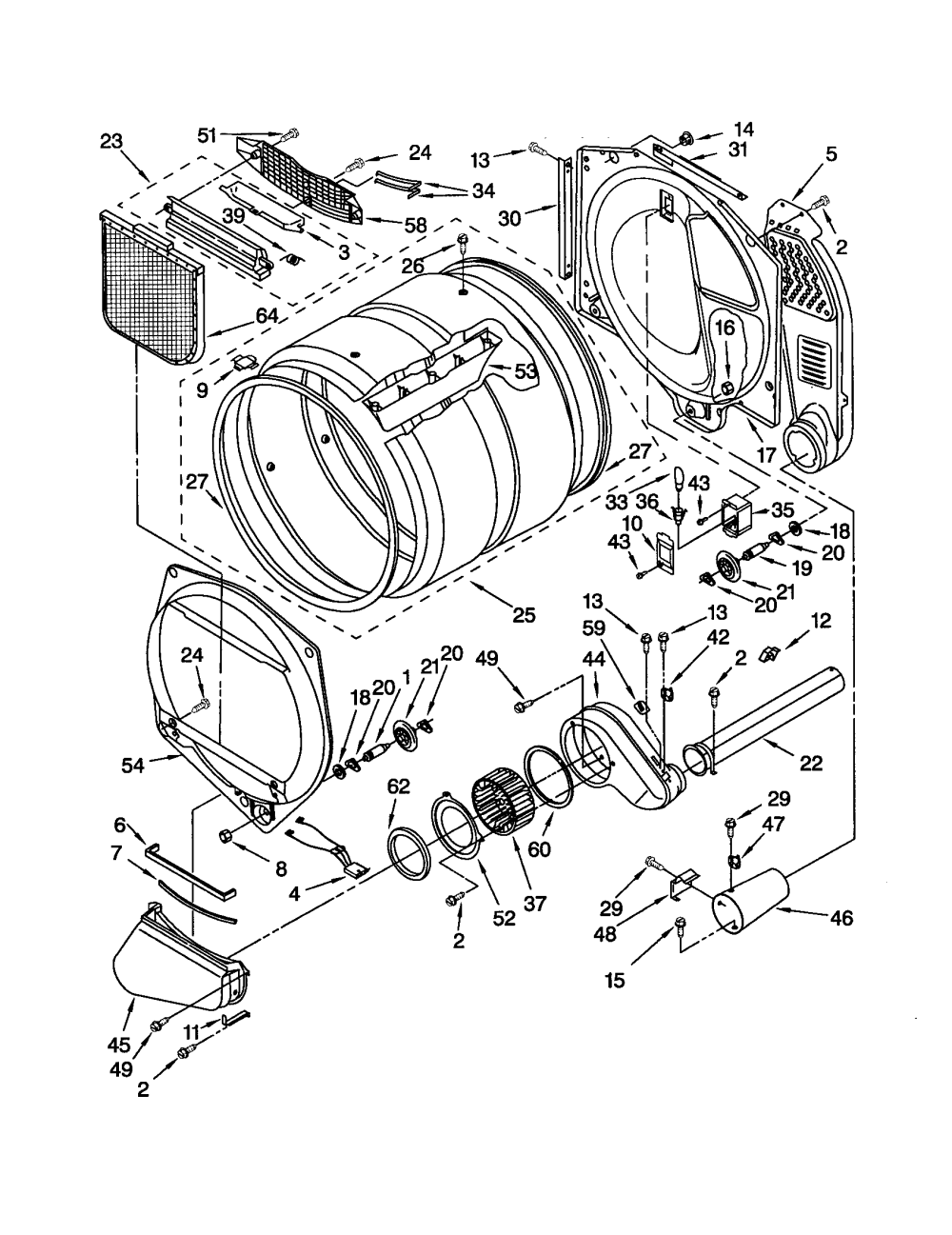 medium resolution of kenmore model 11092826102 residential dryer genuine parts kenmore dryer schematics sears dryer diagram