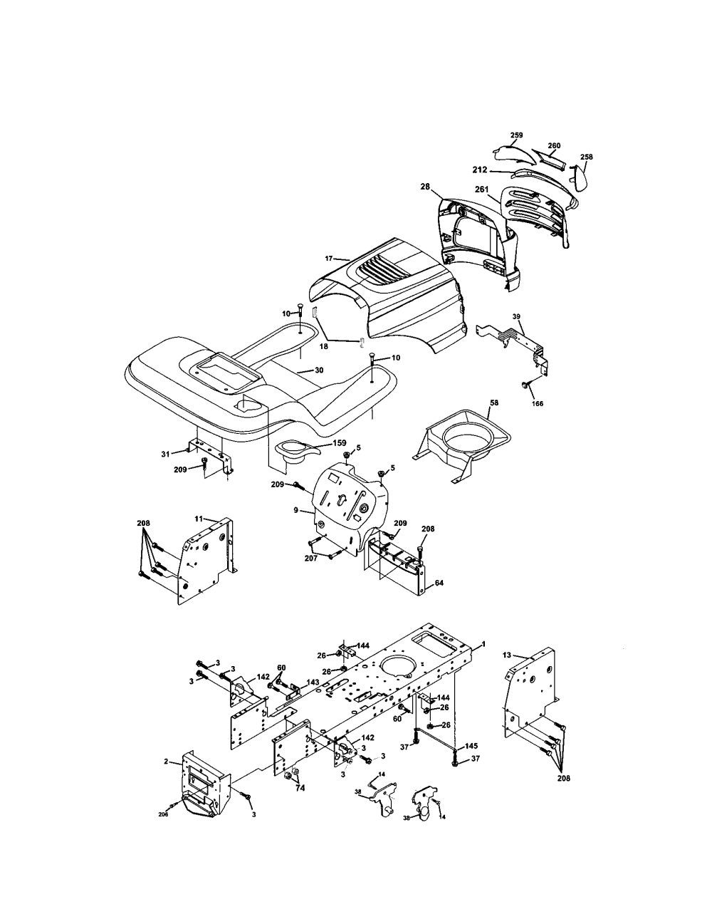 medium resolution of electrical craftsman 917273160 chassis and enclosures diagram