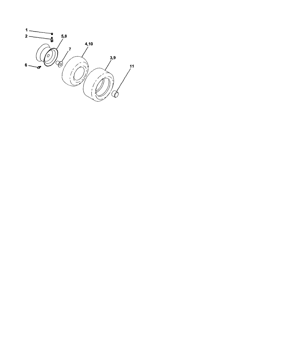 medium resolution of craftsman 917273160 wheels and tires diagram