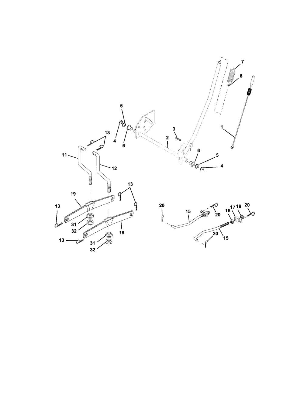 medium resolution of craftsman 917273160 lift assembly diagram