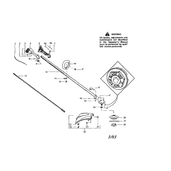 Weed Eater Fuel Line Replacement Diagram 2003 Honda Civic Si Stereo Wiring Craftsman Sears Weedwacker Parts Model 358795560