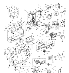 kenmore model 38511206300 mechanical sewing machines genuine parts [ 1738 x 2235 Pixel ]