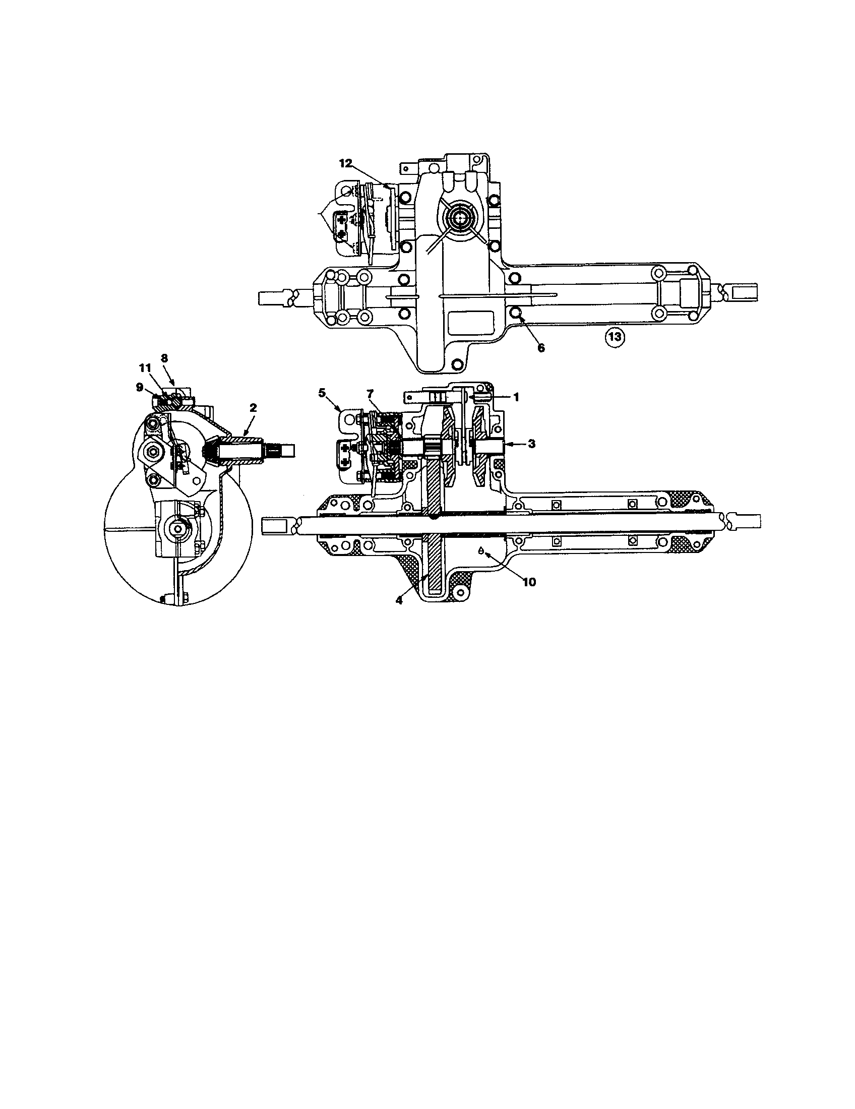 DRIVESHAFT AND HOUSING Diagram & Parts List for Model