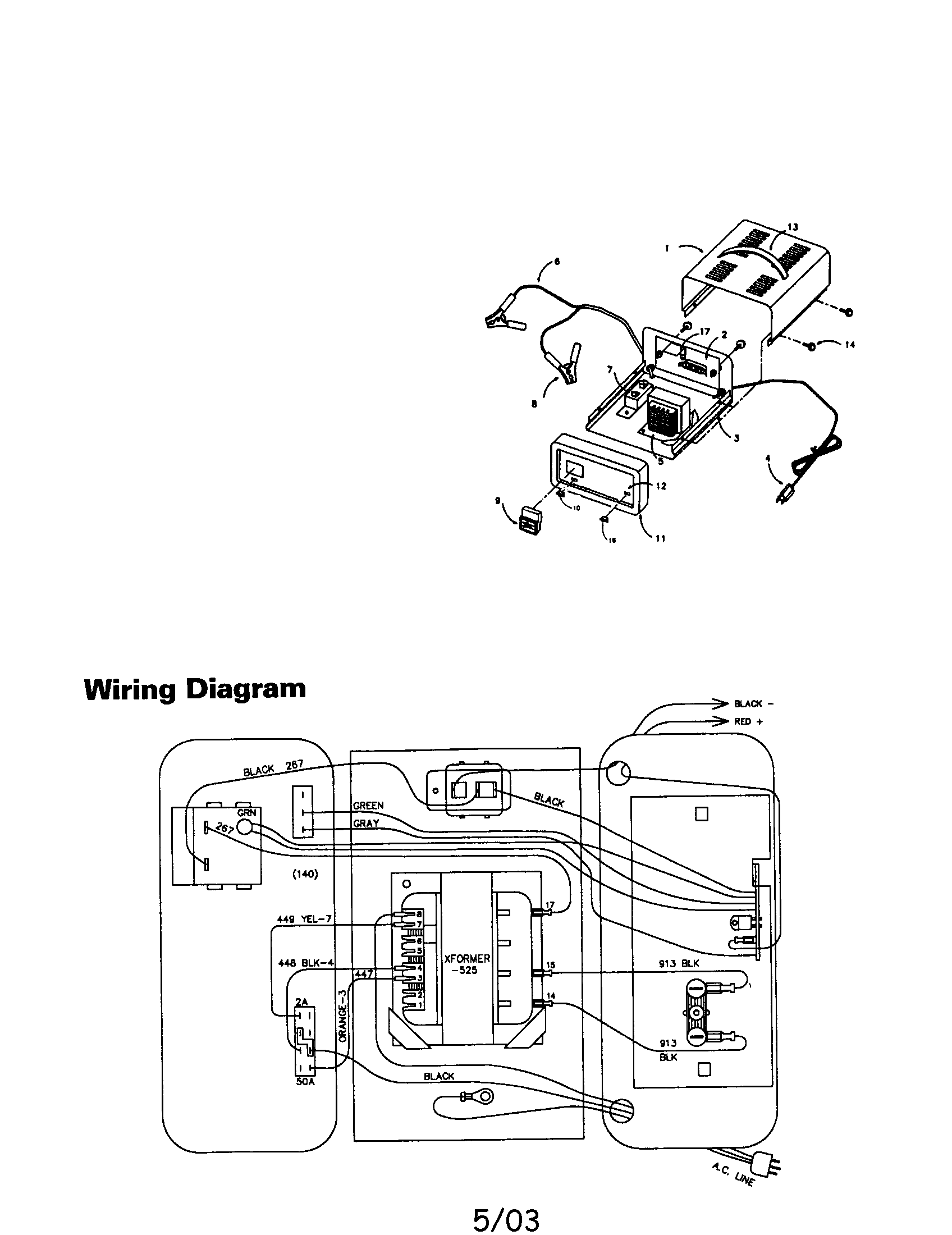 [WRG-1835] Schumacher Battery Charger Wiring Schematic