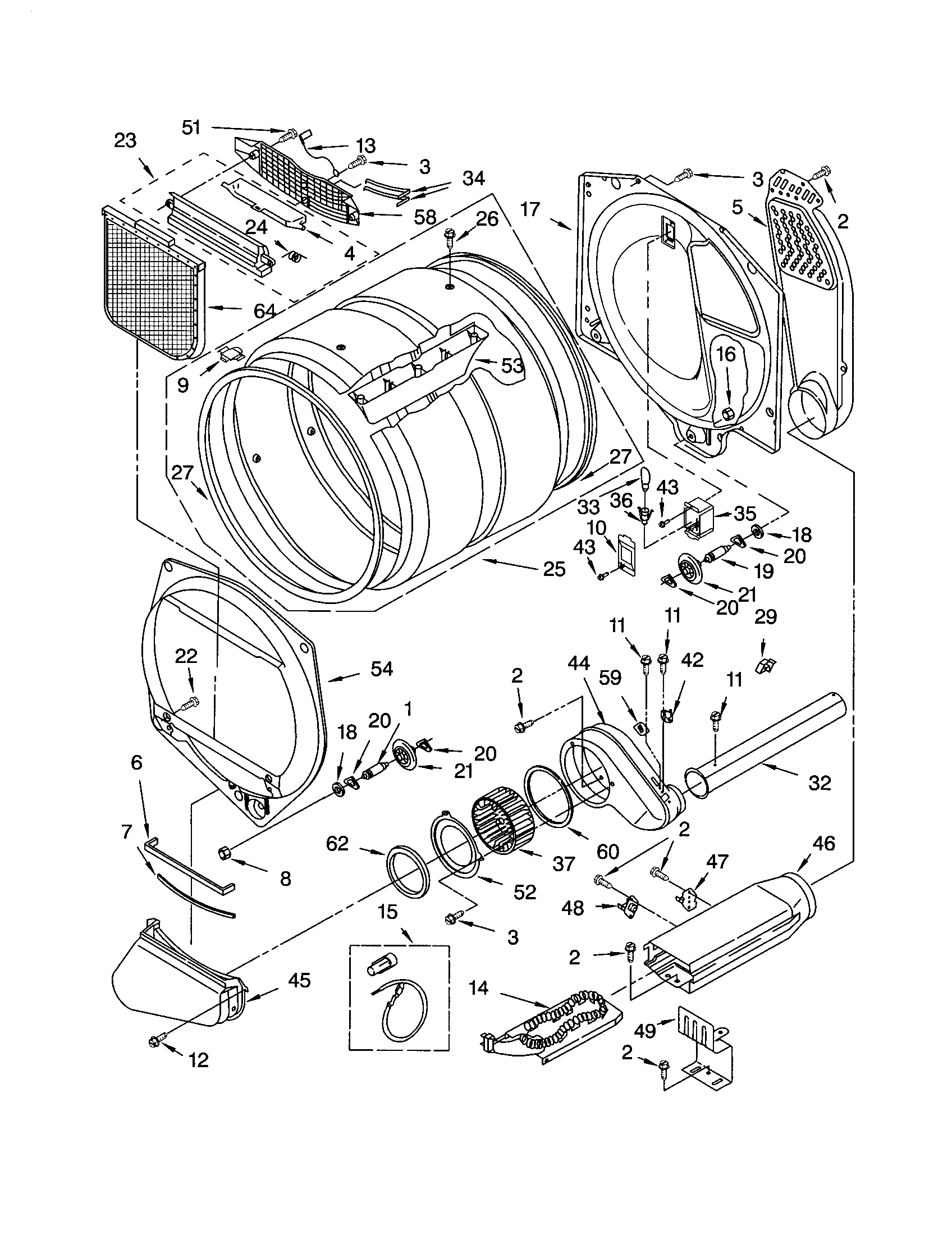 BULKHEAD Diagram & Parts List for Model 11064962300