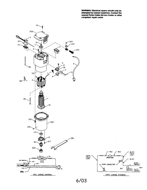 small resolution of porter cable 75192 speedmatic router diagram