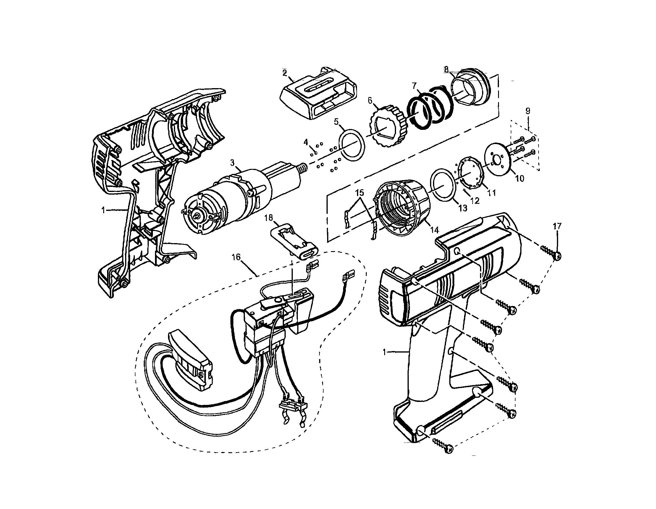 Craftsman 14 4 volt cordless drill driver parts model 973114240 rh searspartsdirect