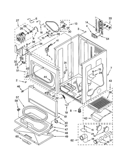 small resolution of kenmore 11064994300 cabinet diagram