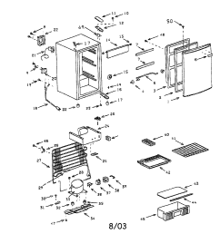 compact refrigerator diagram and parts list for sanyo refrigerator [ 1696 x 2200 Pixel ]