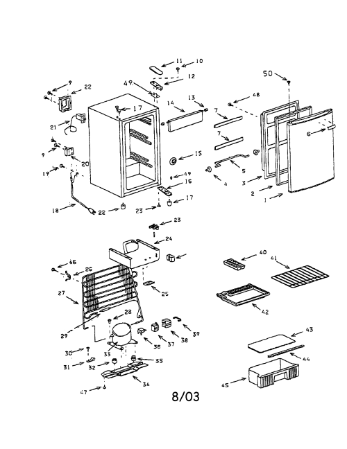 small resolution of compact refrigerator diagram and parts list for sanyo refrigerator