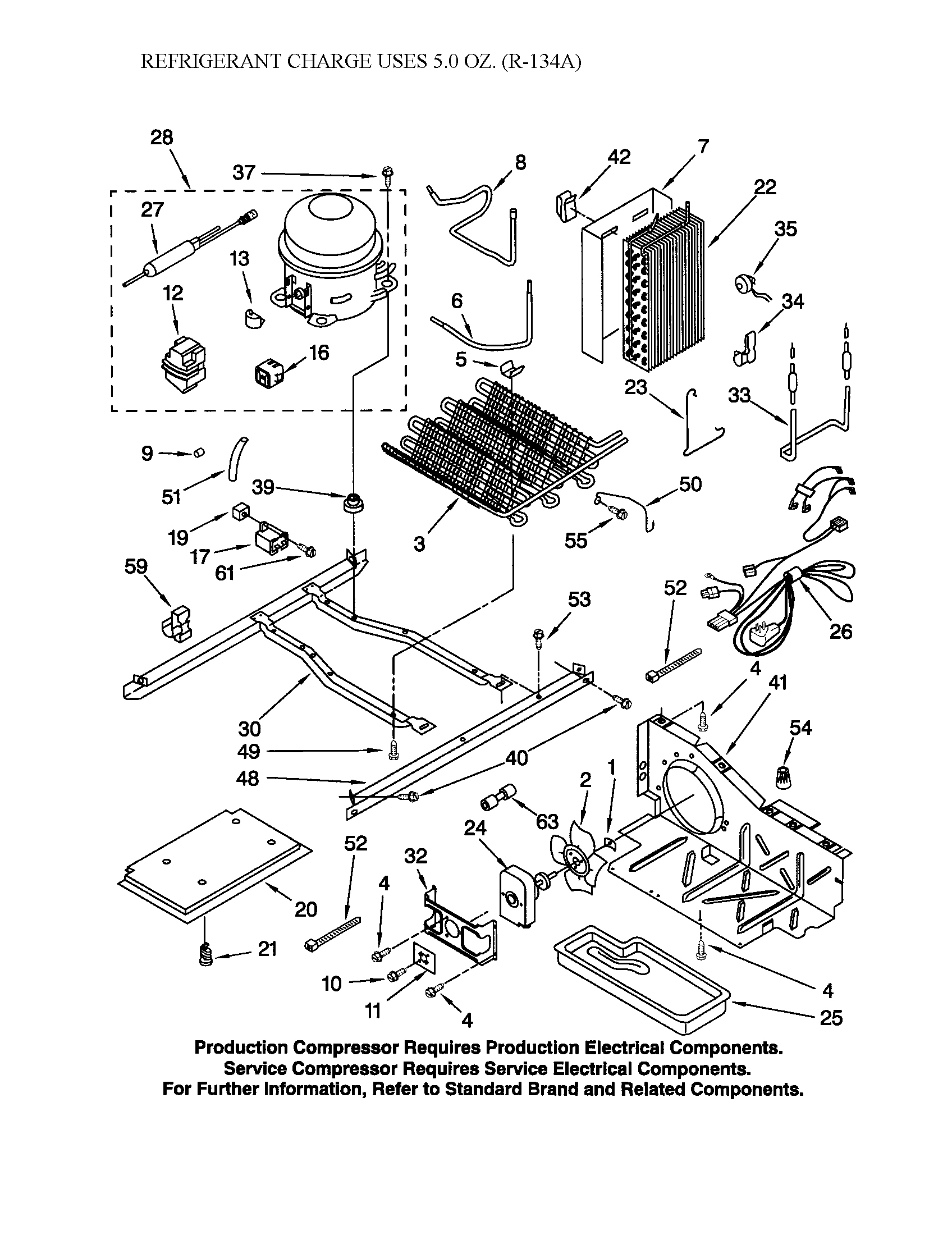 UNIT Diagram & Parts List for Model 10653552202 Kenmore
