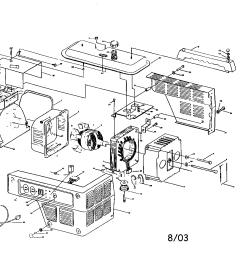 coleman model pm800 generator genuine parts rh searspartsdirect com coleman generator engine wiring schematic coleman generator [ 2200 x 1696 Pixel ]