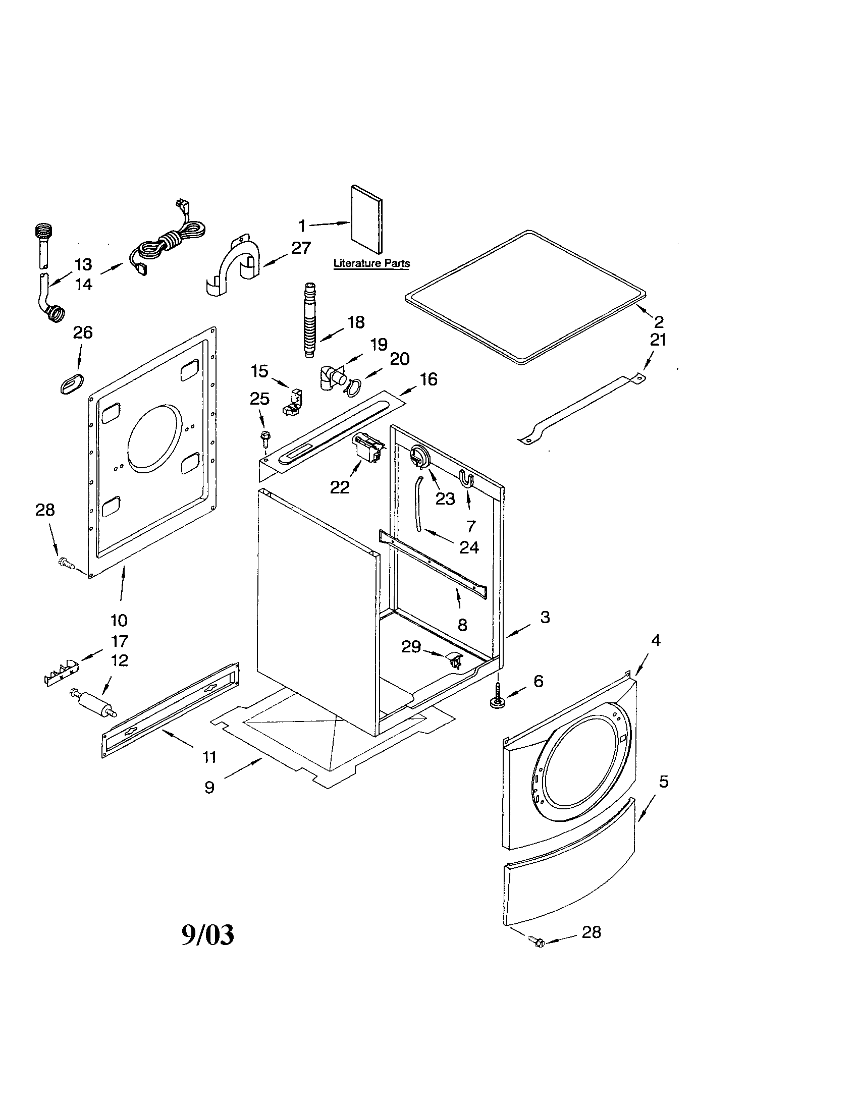 diagram parts list for model 11042922200 kenmoreeliteparts washer wiring diagram today [ 1696 x 2200 Pixel ]