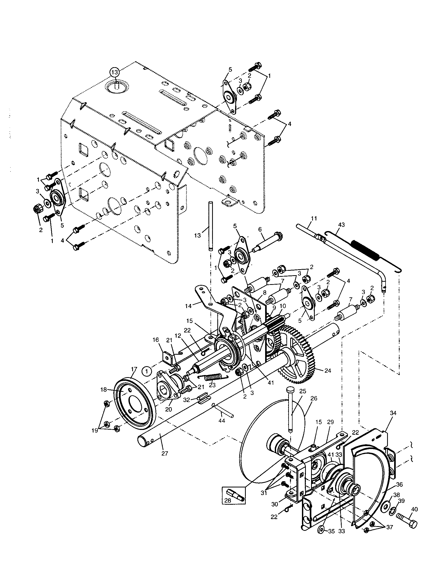hight resolution of poulan pp524a drive diagram