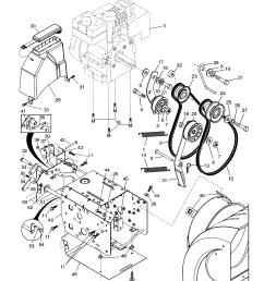 poulan pp524a chassis engine pulleys diagram [ 1696 x 2200 Pixel ]