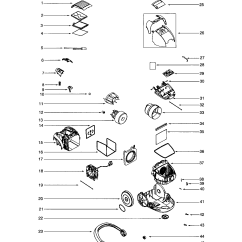 Electrolux Parts Diagram Verizon Fios Wiring Powerteam Canister Model El6989a