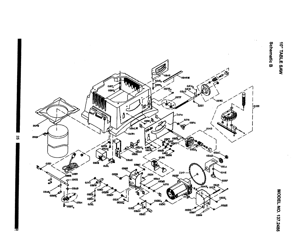 medium resolution of  wiring diagram on looking for craftsman model 137248830 table saw repair replacement on