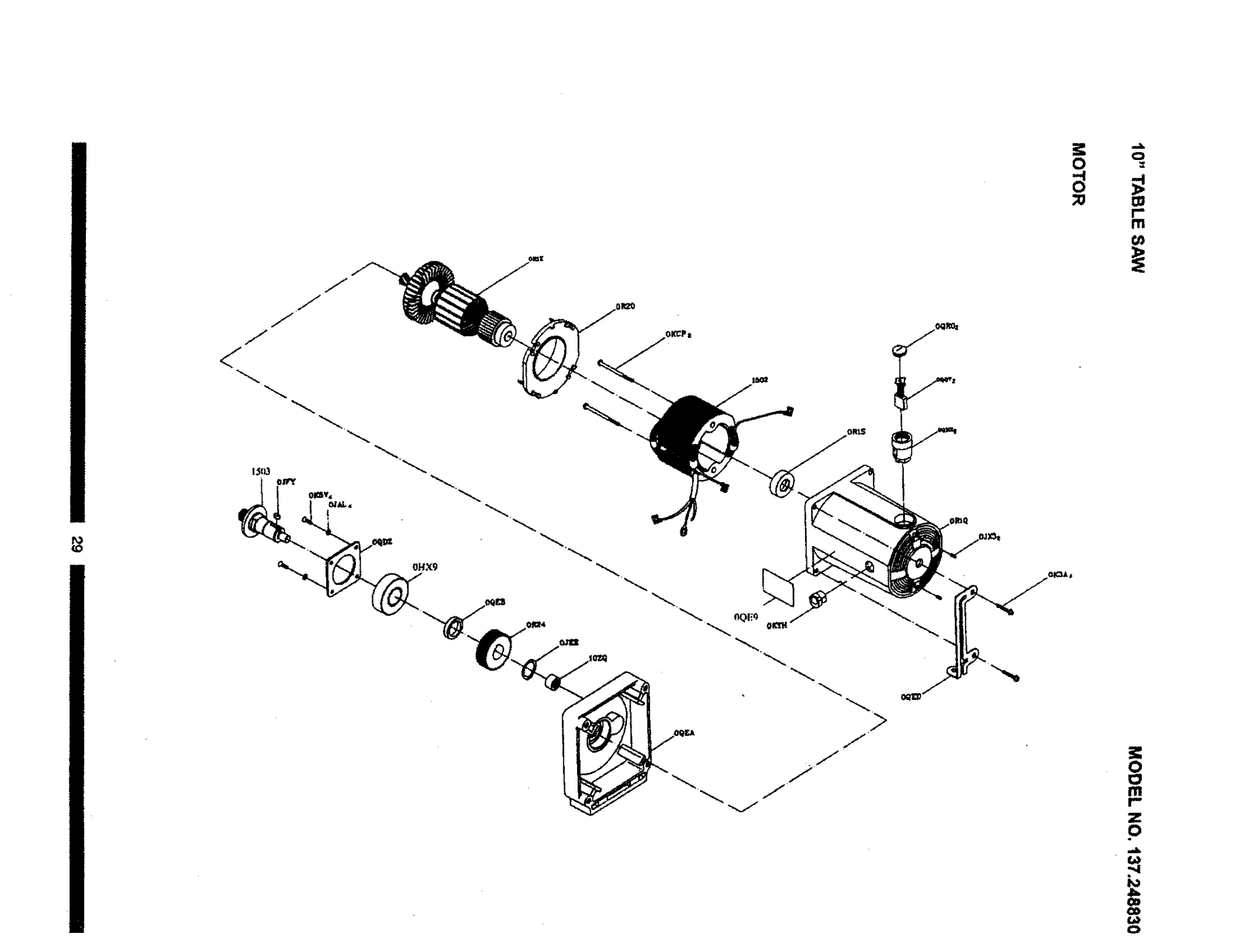 hight resolution of wiring diagram for craftsman table saw 137 248830