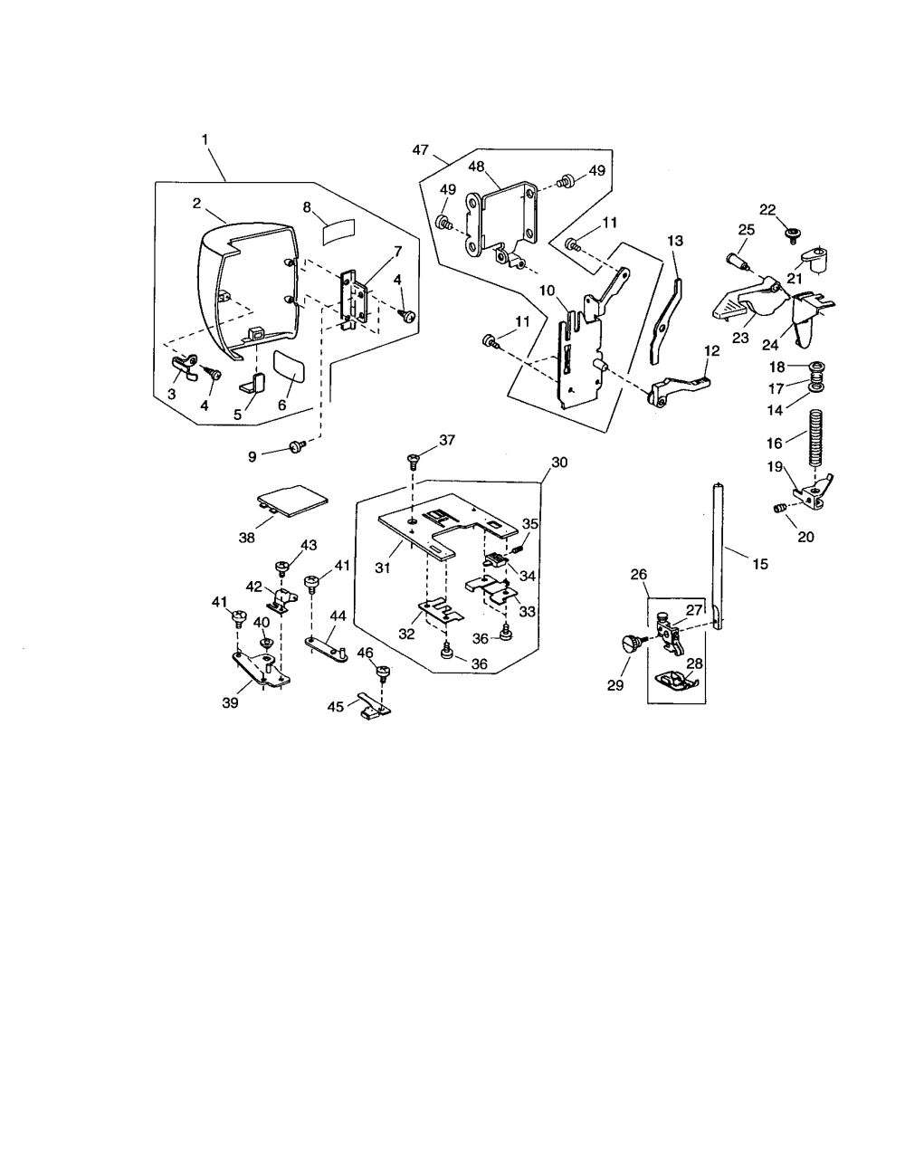 medium resolution of kenmore 38516221300 face cover presser base plate diagram