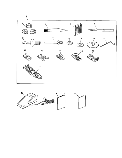 small resolution of kenmore 38516221300 accessories foot control diagram