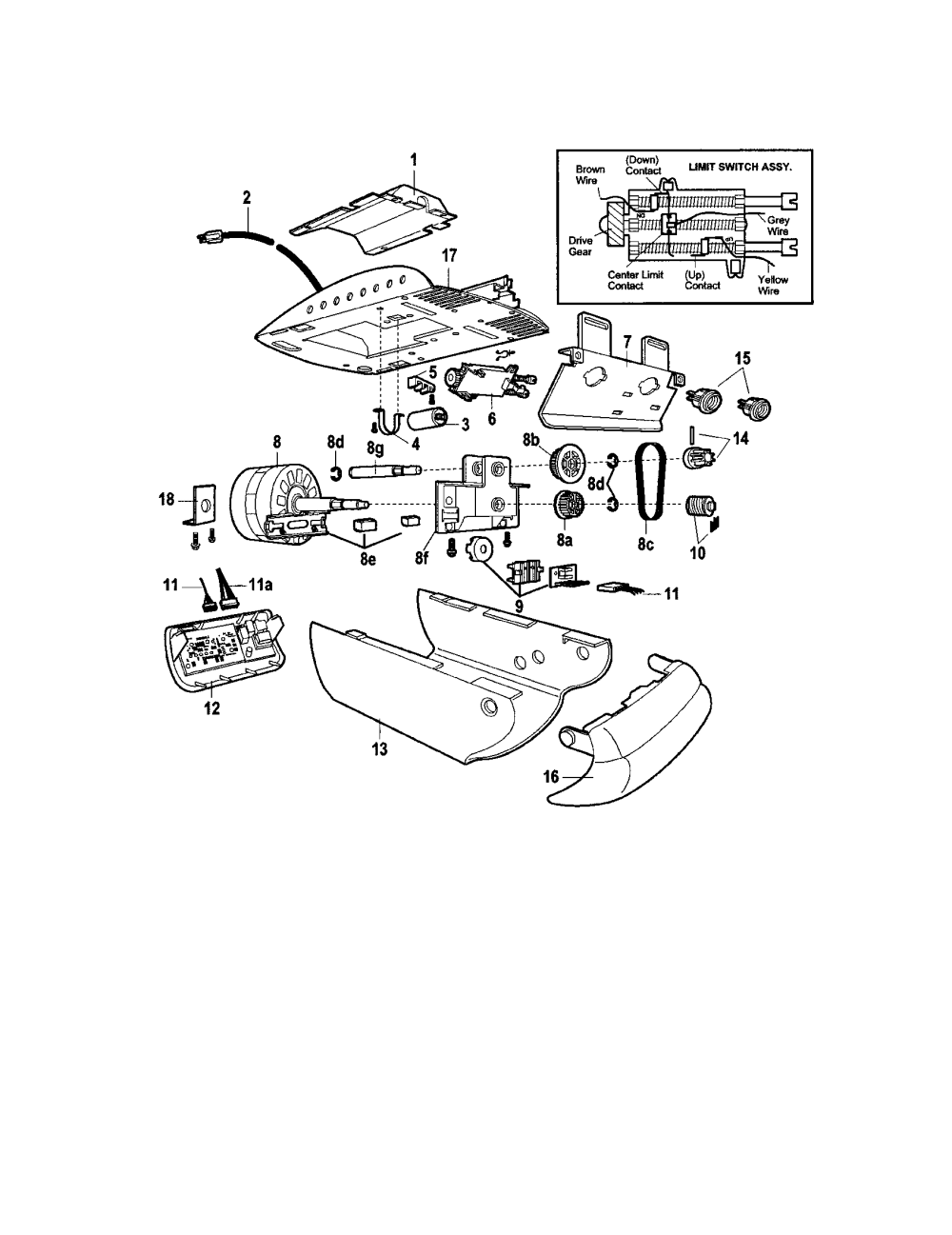 medium resolution of craftsman model 13953992 garage door opener genuine parts stove wiring diagram garage opener wiring diagram