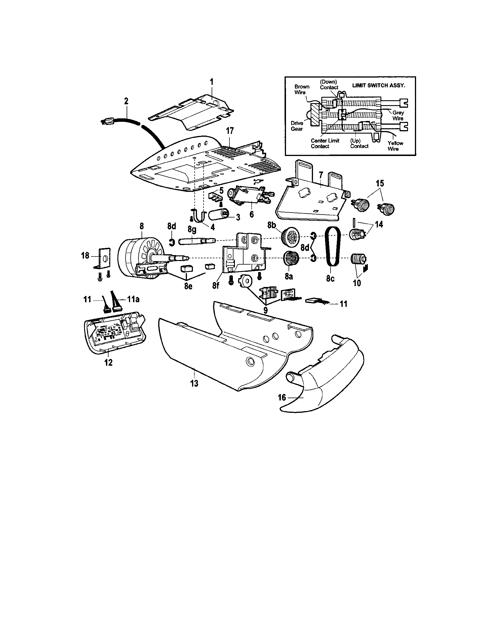hight resolution of craftsman model 13953992 garage door opener genuine parts stove wiring diagram garage opener wiring diagram