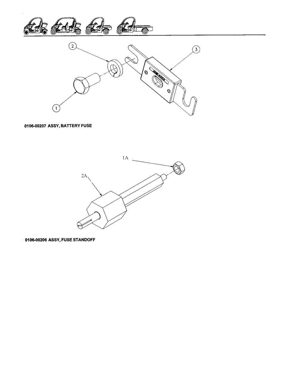 medium resolution of gem products motorcars batter fuse fuse standoff parts