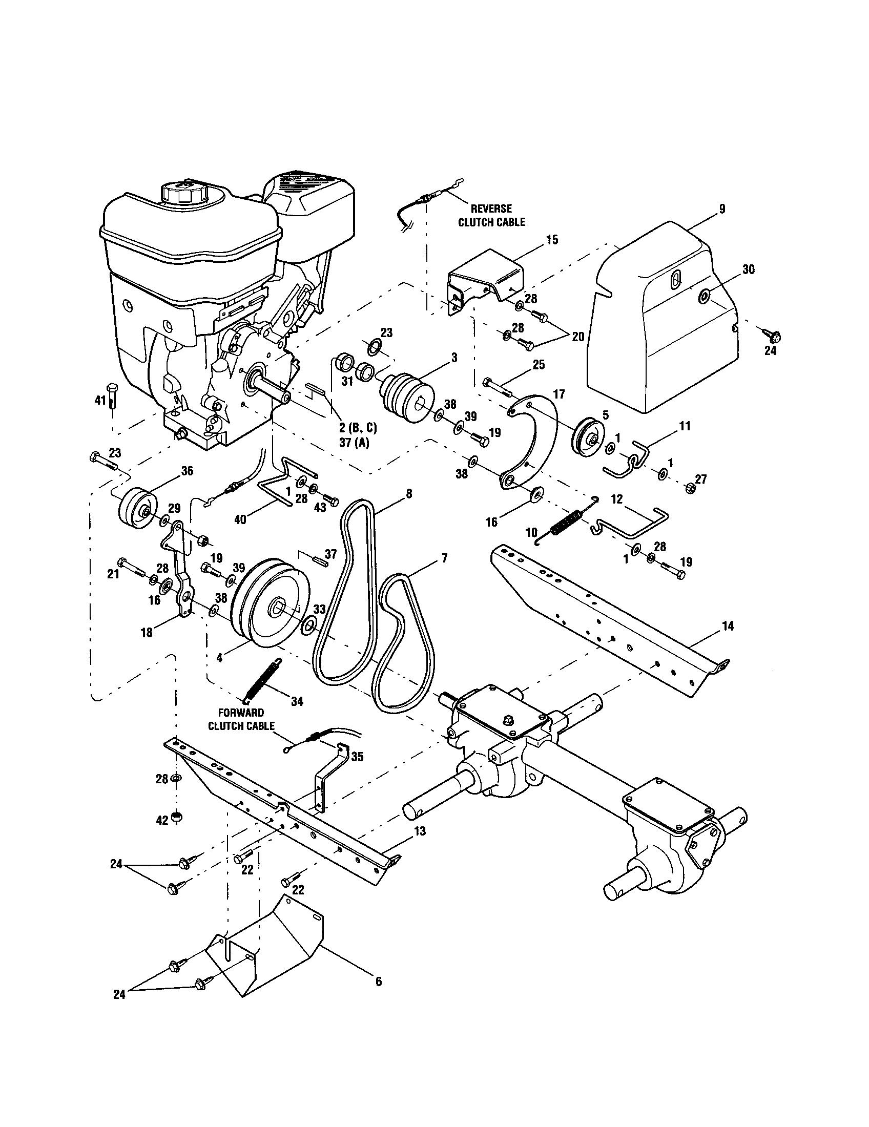 hight resolution of ctr troy bilt bronco tiller diagram