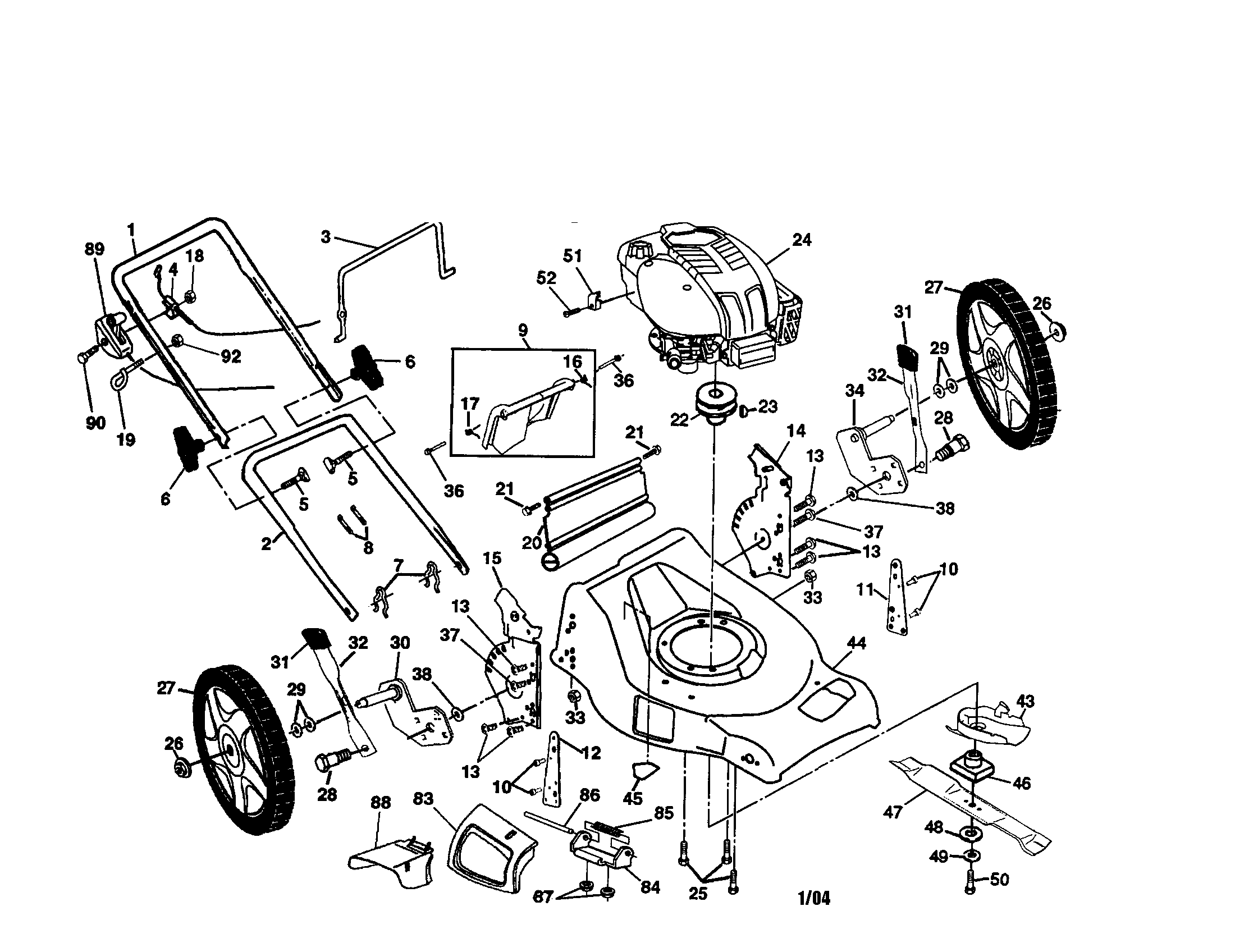 Drive Diagram And Parts List For Murray Ridingmowertractorparts