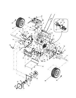 FRAMECHAINWHEELSDRIVE PULLEY Diagram & Parts List for