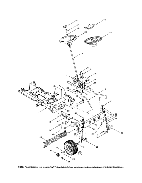 small resolution of mtd 609 steering wheel wheel assembly diagram