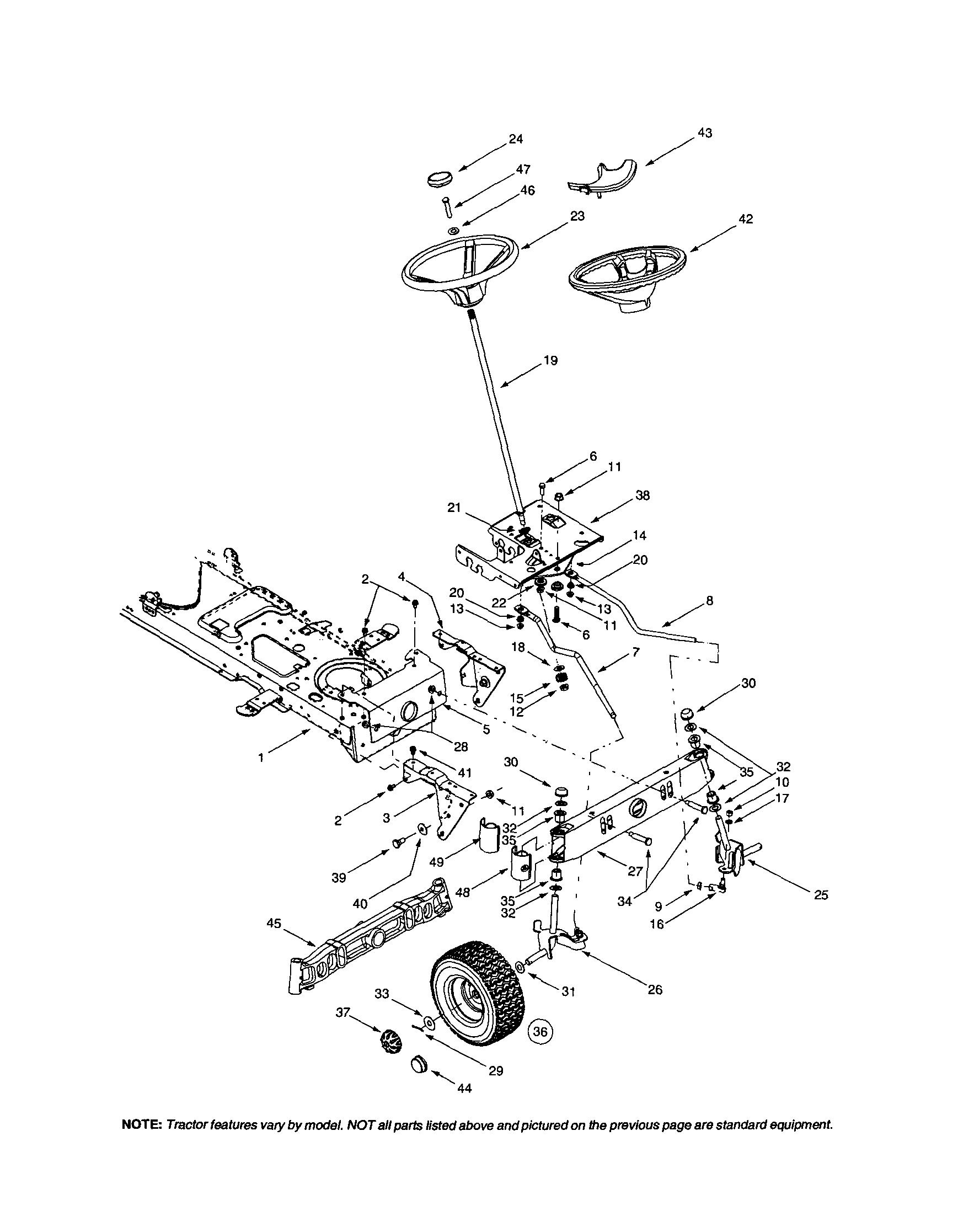 hight resolution of husqvarna lawn mower steering diagram