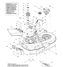 deck chute blade diagram parts list for model 13af608g062 mtdparts [ 1696 x 2200 Pixel ]