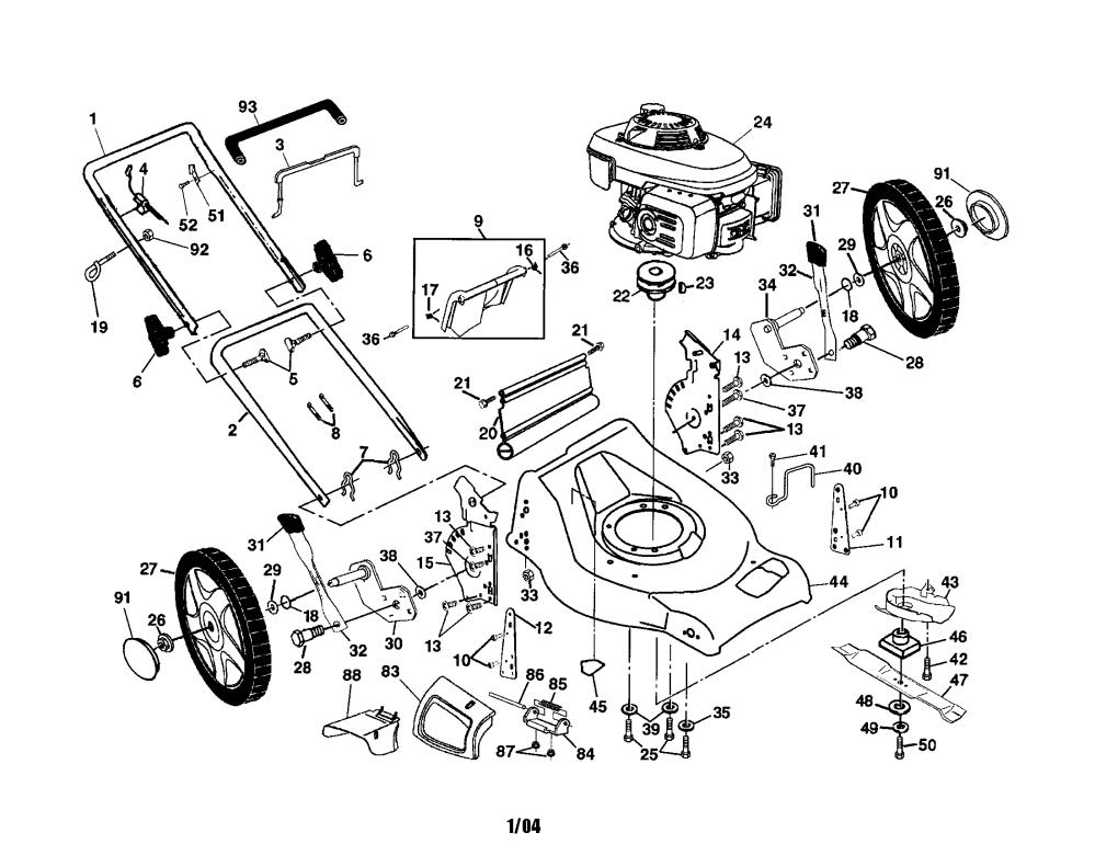 medium resolution of husqvarna 5521chvb engine housing handle wheels diagram