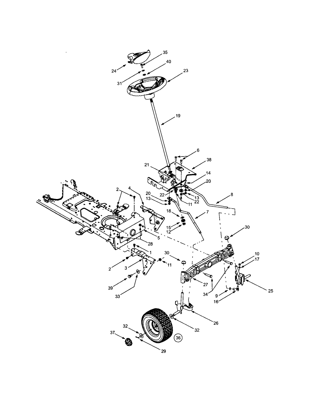 medium resolution of troybilt 13ap609g063 steering wheels diagram