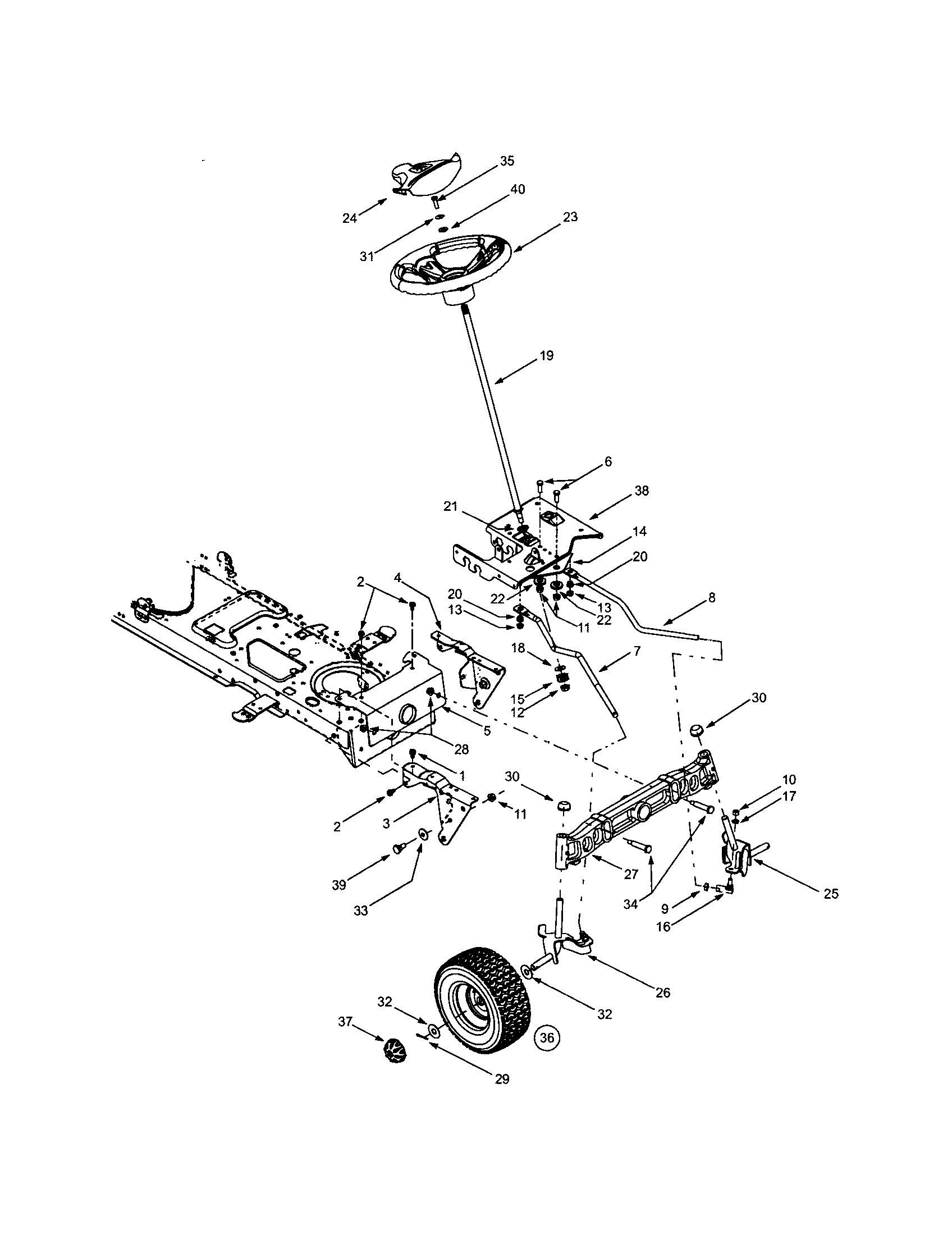 hight resolution of troybilt 13ap609g063 steering wheels diagram
