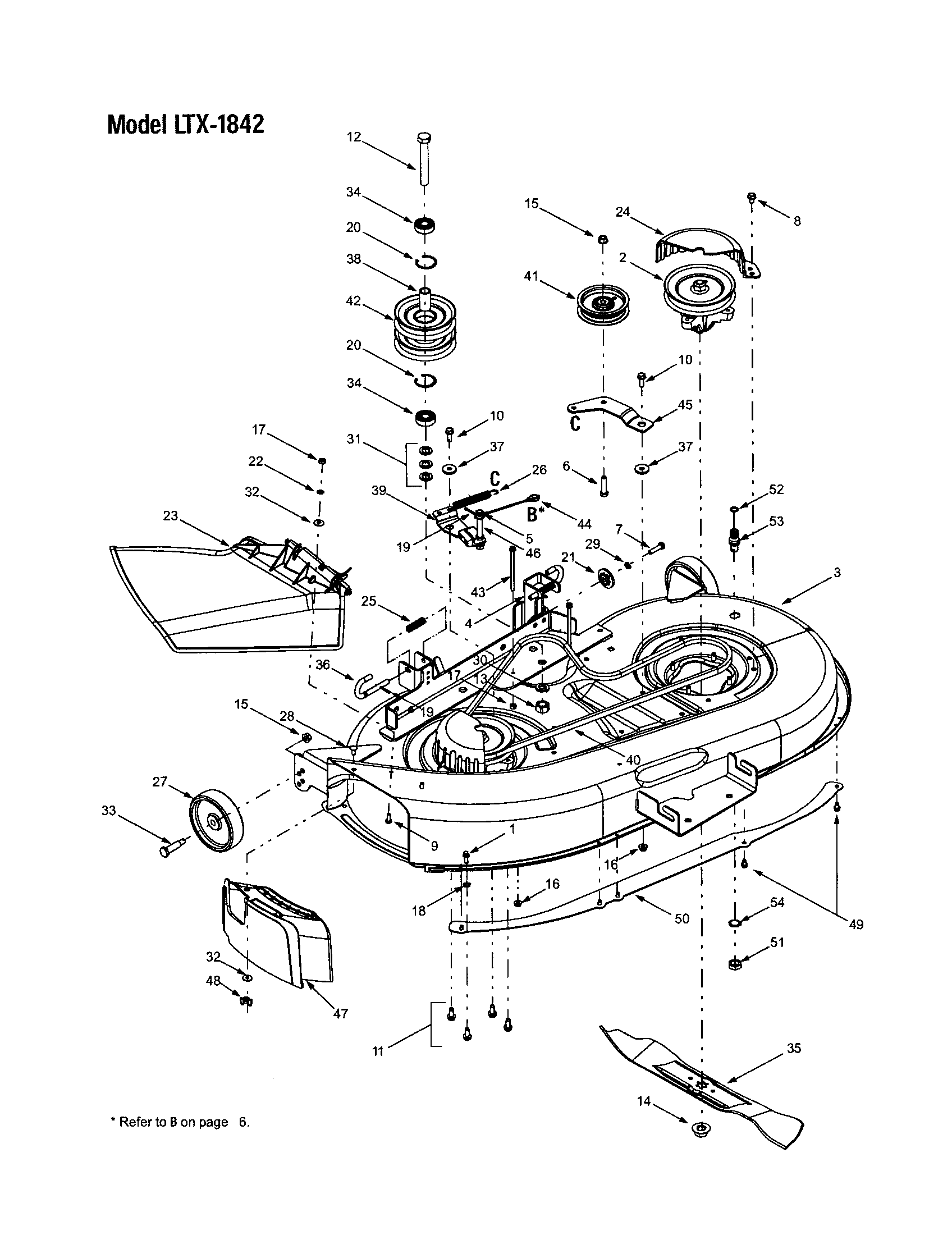 hight resolution of troybilt 13ap609g063 deck shell belt cover ltx 1842 diagram