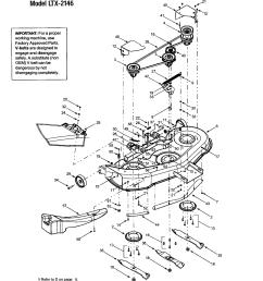 troybilt 13ap609g063 deck shell belt cover ltx 2146 diagram [ 1696 x 2200 Pixel ]