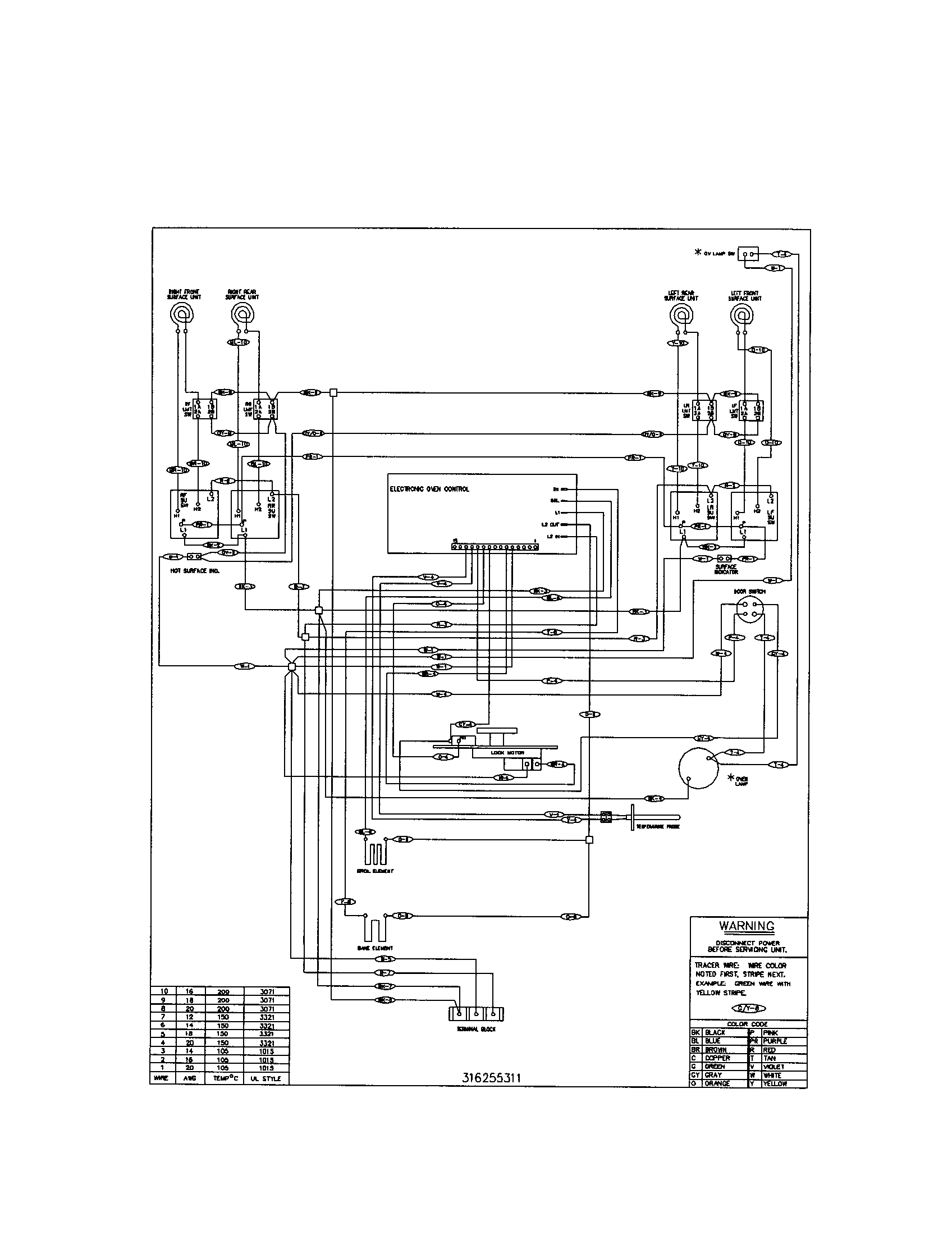 wire diagram for kenmore elite 790 wall oven